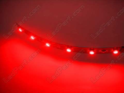 Flexible LED-Streifen smd secable rot