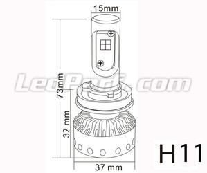 Mini LED-Lampe H11 Tuning