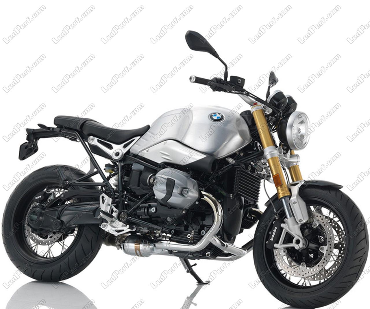 LED Scheinwerfer für BMW Motorrad R Nine T optisch Motorrad runde zugelassen