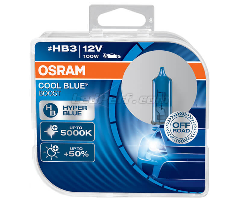 Packung mit 2 Lampen HB3 Osram Cool Blue Boost - 5000K -  69005CBB-HCB