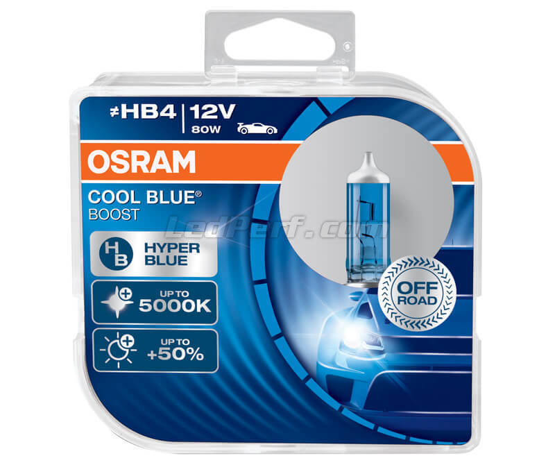 Packung mit 2 Lampen HB4 Osram Cool Blue Boost - 5000K -  69006CBB-HCB