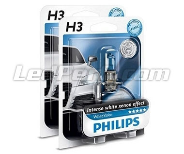 Pack mit 2 Lampen H3 Philips WhiteVision (Neu!)
