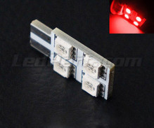 LED T10 Rotation mit 4 LEDs HP - Seitenbeleuchtung - rot W5W